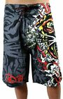 BRAND NEW ED HARDY CHRISTIAN AUDIGIER MEN'S BOARD SHORTS TRUNKS BLACK TIGER