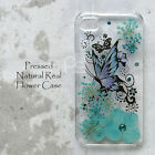 BXL Butterfly Pressed Real Flower Bling Hard Skin Case Cover For Samsung iPhone