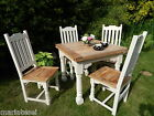 Rustic OAK Farmhouse EXTENDING Kitchen Dining Set Table & Chairs PAINTED F&B NEW