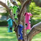 Blooms Tube Bird Feeder Blue with Roof and Perch