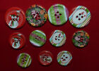 CLEARANCE - 50/100 ASSORTED COLOURED SPOTTY WHITE WOODEN HEART BUTTONS# 792