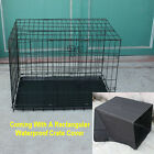 Black Portable Folding Metal Dog Cage Puppy Cat Pet Training Carrier Crate