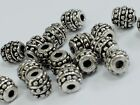 7.5x7.5mm 10/30pcs ANTIQUE SILVER METAL GRAPHICS BEADS MB1880