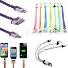 3in1 30/8Pin Micro USB Charger Cable For iPhone 5 5S 4S Samsung S3 S4 LG Braided