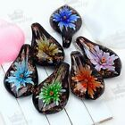 1PC Smart Beauty Flower Lampwork Glass Pendant Bead Murano For SP Necklace Gift