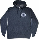 Pacific Wave Surf Club Terry Hooded Zip Sweatshirt Heather Navy
