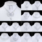 Cheap wholesale Acrylic Nobby Wedding Necklace Earring Bracelet Ring Jewelry Set