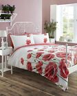 Poppy Meadow Quilt Duvet Cover Bedding Bed Set Floral Scarlet Red REDUCED PRICE