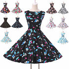 ❤CLEARANCE SALE❤Vintage Housewife Rockabilly 50s Flower Evening Party Prom Dress