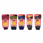 L039 LADIES 2prs CHUNKY STRIPE DESIGN EXTRA 2.3 TOG WARM HEAT SOCKS SKI BOOT SOX