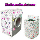 Elegant Floral Waterproof Washing Machine Dust Cover