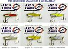 JCs Blade Bait Silver Buddy Heddon Sonar Style Jigging Lure Any Color 1/4 1/2oz