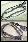 LEATHER Super Grip Rubber CONTINENTAL WEB REINS - Brown OR Black FREE UK POST