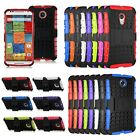 Hybrid Heavy Duty Hard Case Cover w/ Stand for Motorola Moto G2/X2 2014 Nexus 6