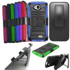 Phone Case For Metro PCS LG Optimus F60 Rugged Cover Stand Holster Belt Clip