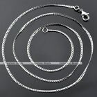 1x 1.7mm Silvery White Gold Flat Lock Lines Link Curb Chain Link Filled Necklace