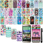 For HTC One 2 M8 Cute Design Rubberized PATTERN HARD Case Phone Cover + Pen