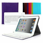 Wireless Keyboard For Apple iPad 2 3 4 Case Cover With Bluetooth Detachable