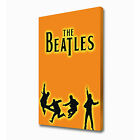 LARGE BEATLES ORANGE CANVAS PRINT EZ1052