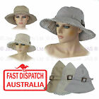 1 Ladies Cotton Fashion Sun Hat Portable Packable Reshapable Adjustable Belt