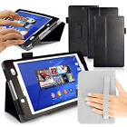 LEATHER STAND CASE COVER FOR SONY XPERIA Z3 COMPACT TABLET - SLEEP WAKE SENSOR