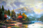 Thomas Kinkade End of a Perfect Day III 12x18 Classic Edition Canvas