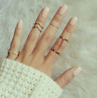 New Fashion 6pcs/set Elegant Personality Charm Alloy Punk Knuckle Prom Cute Ring
