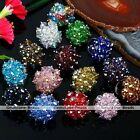 Womens Fashion Faceted AB Crystal Glass Beas Adjustable Finger Ring US 6 Jewelry
