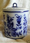 Antique Waechtersbach German Flow Blue Lidded Biscuit Jar  1893-1911 Hallmark