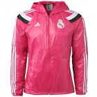 adidas Real Madrid 2014 - 2015 LU Soccer Woven Hooded Presentation Jacket Pink