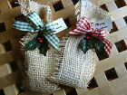 Country Style Rustic Style Christmas Table Decorations/ Favours with Chocolates