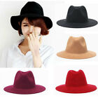Fashion Vintage Women Ladies Floppy Wide Brim Wool Felt Fedora Cloche Hat Cap B