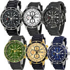 Invicta Chronograph Rubber Strap Stainless Steel Sig II Mens Watch