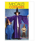 Sew & Make McCall's M5213 SEWING PATTERN - WIZARD WARLOCK HALLOWEEN Costumes