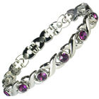 PURPLE CRYSTALS MAGNETIC BRACELETS FOR LADIES (#BRAS-37-P-MJ)