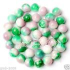 """Beautiful 6mm 8mm 10mm 12mm 14mm Natural Multicolor Jade Round Loose Beads 15""""AA"""