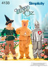 Sew & Make Simplicity 4133 SEWING PATTERN - WIZARD OF OZ COSTUMES LION SCARECROW