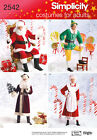 Sew & Make Simplicity 2542 4393 SEWING PATTERN - SANTA MRS CLAUS ELF COSTUMES