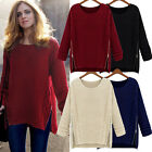 Fashion Womens Knitted Pullover Jumper Loose Sweater Zipper Knitwear GFY