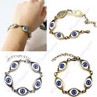 Hot Chic Punk Rhinestones Studded Evil Eyes Lovely Blue Eyeballs Style Bracelet