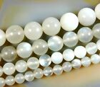 "Natural Moon Stone Gemstone Round Beads 16"" 6mm 8mm 10mm 12mm"