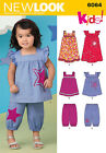 Sew & Make Simplicity 6064 New Look SEWING PATTERN - Baby Toddler TOPS PANTS