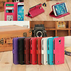 Leather Photo Card Flip Wallet Skin Cover Case For Samsung Galaxy S4 i9500