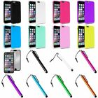 Colorful Jelly Soft TPU Case+Touch Stylus+Mirror SP For iPhone 6 Plus 5.5""