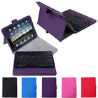 Leather Case Cover Stand w/ wireless Bluetooth Keyboard for iPad Air 1st and 2nd