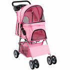 VIVO 4 Four Wheel Pet Stroller / Cat & Dog Foldable Carrier Strolling Cart