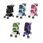 four wheel - VIVO 4 Four Wheel Pet Stroller / Cat & Dog Foldable Carrier Strolling Cart