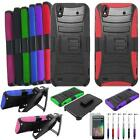 For ZTE Quartz 797c Case Rugged Cover Stand + Holster +USB Charger +Flim +Stylus