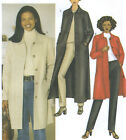 Misses Unlined A Line Jacket Coat Sewing Pattern Collar Long Sleeves Easy 6900