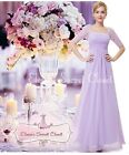 BNWT PENNY 20's Gatsby Lilac Lace Maxi Prom Bridesmaid Cruise Dress UK 6 -18